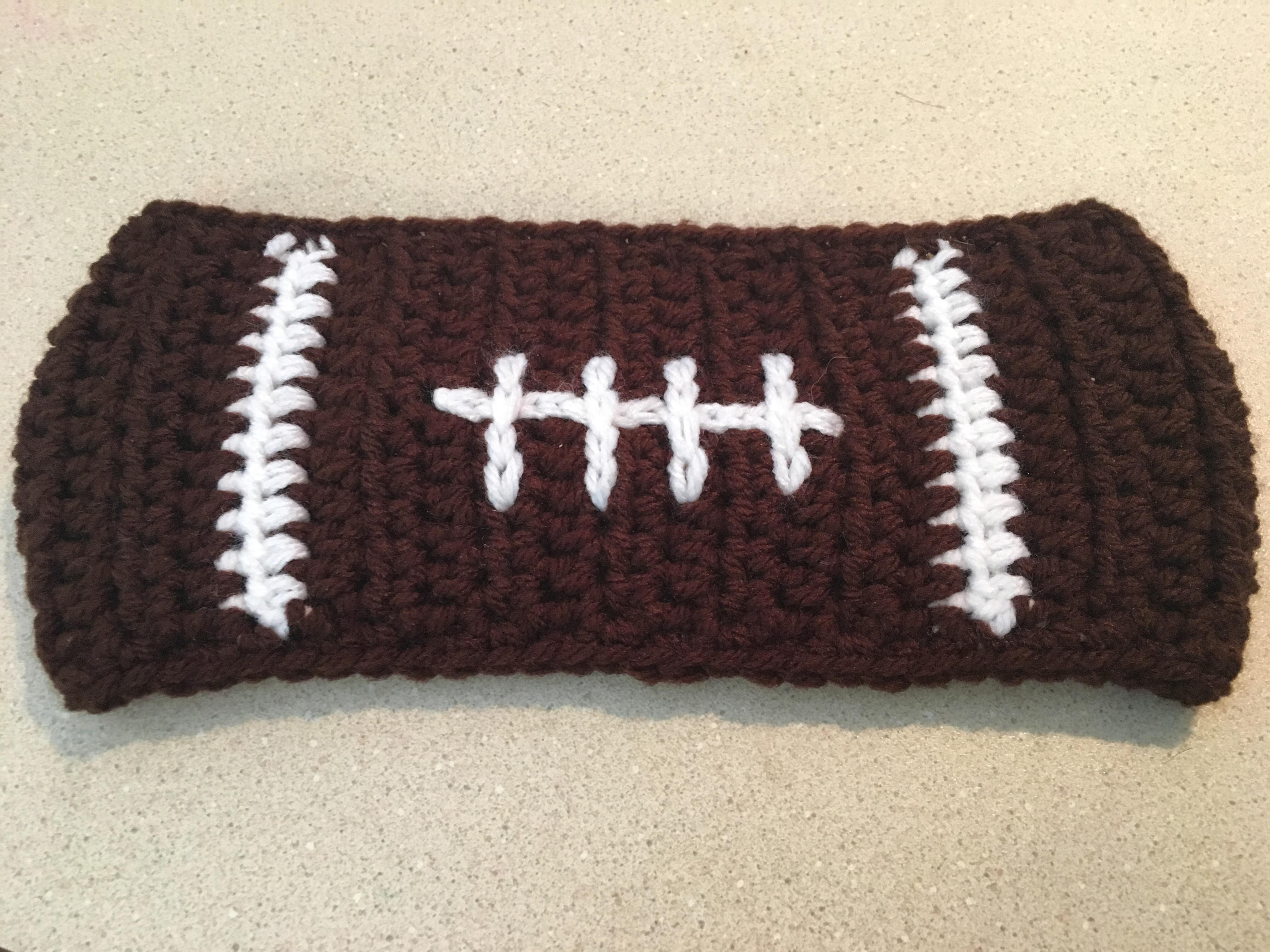Football Ear Warmer Free Crochet Pattern Crochet It