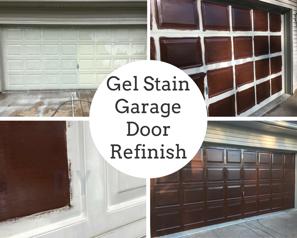 Gel Stain Garage Door Refinish Crochet It Creations