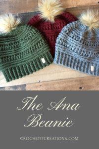 d56565f42dc Crochet it Creations - The Ana Beanie Crochet Pattern