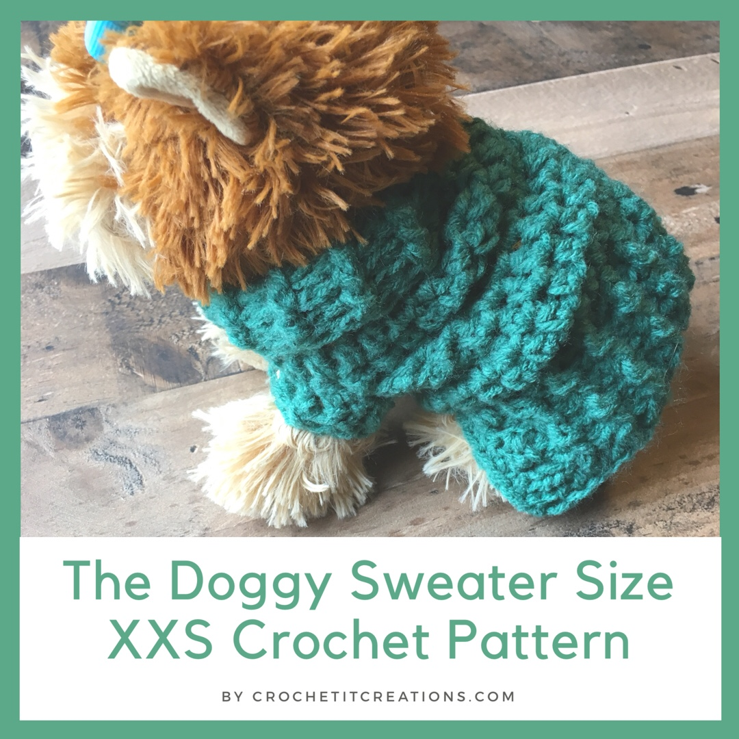 Free Crochet Small Dog Sweater Pattern Crochet It Creations