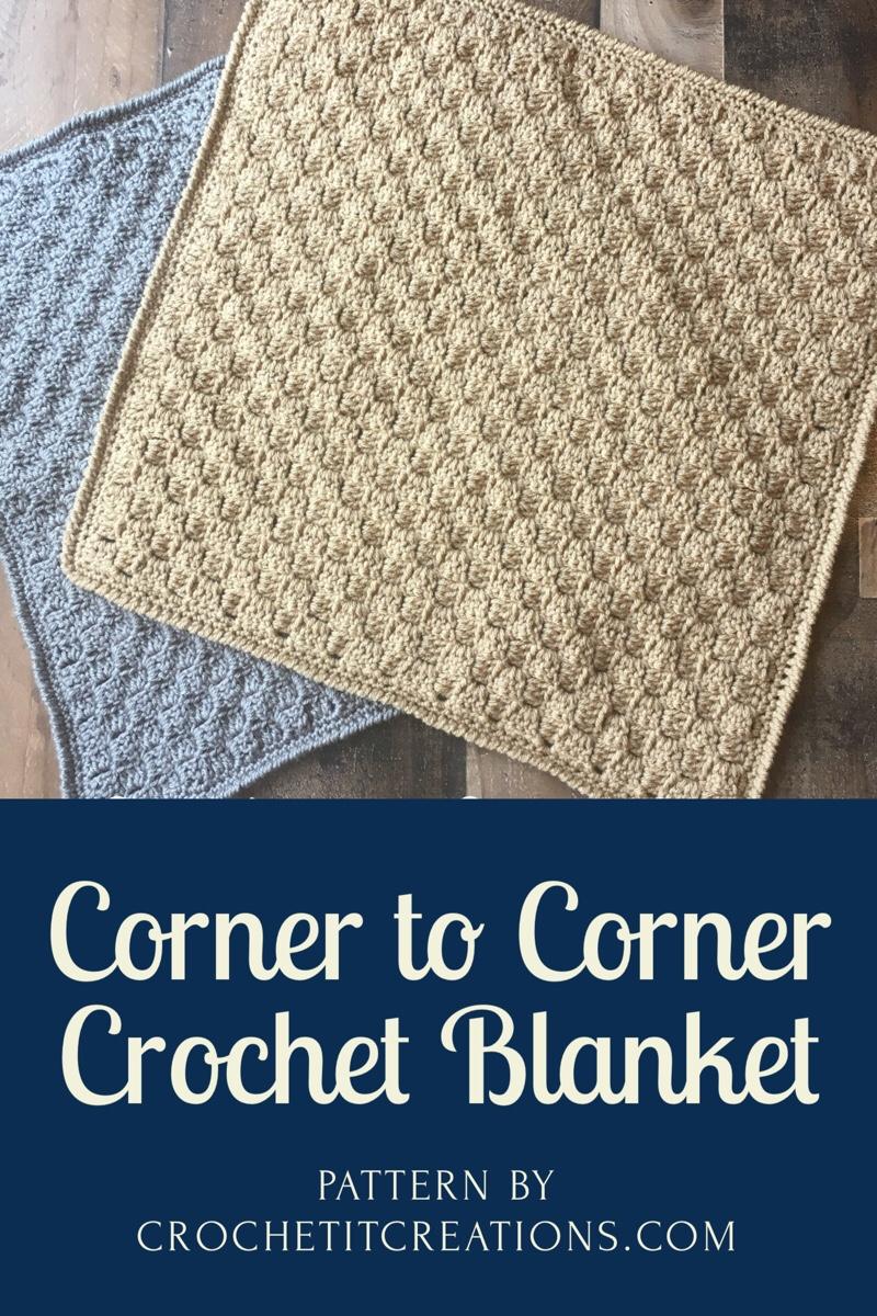 Corner To Corner Crochet Blanket Crochet It Creations