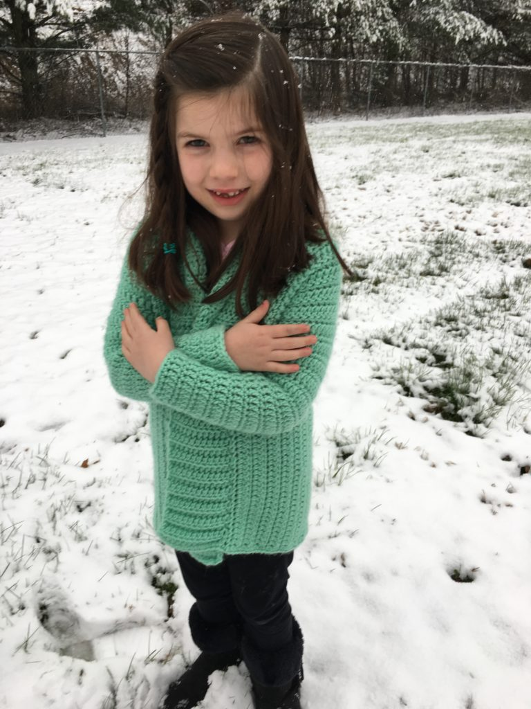 Free Cameo Cardigan Child Small Crochet Pattern By Crochet It Creations