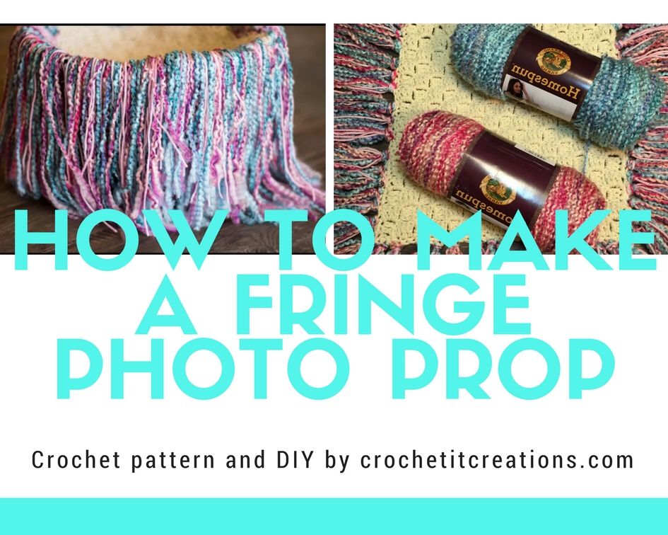 How to Make a Fringe Photo Prop - Crochet it Creations