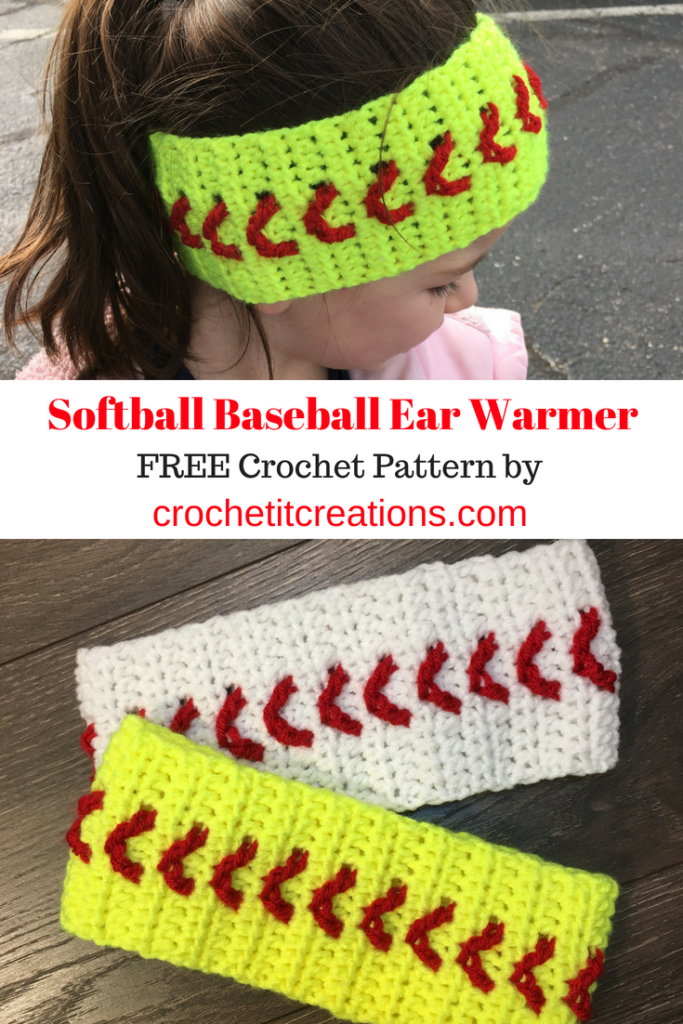 Baseball Softball Ear Warmer Crochet Pattern Crochet It Creations