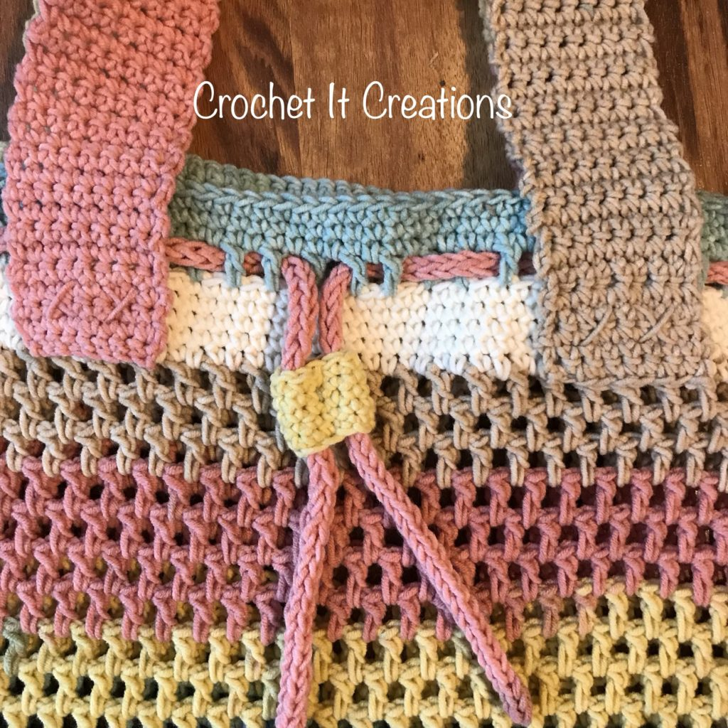 Free Crochet Bag Pattern - Carry All Drawstring Tote