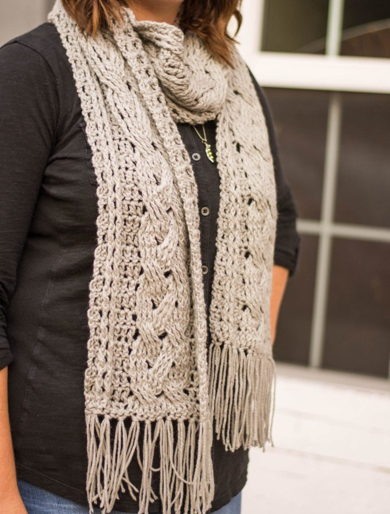 Braided Cable Scarf Crochet Pattern Crochet It Creations