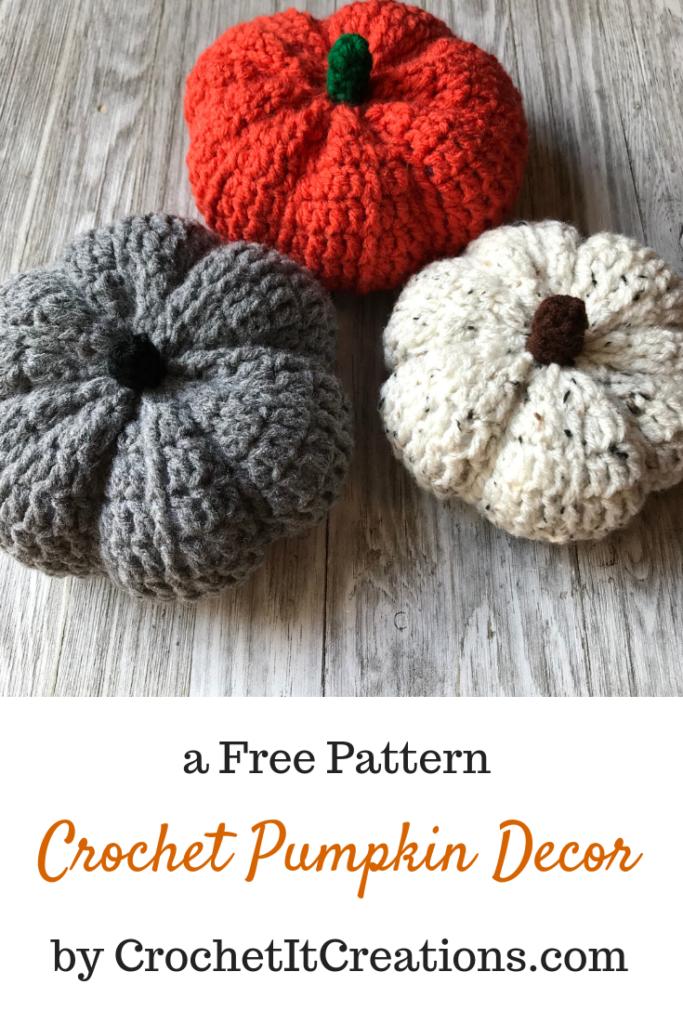 Pumpkin Decor Crochet Pattern Crochet It Creations