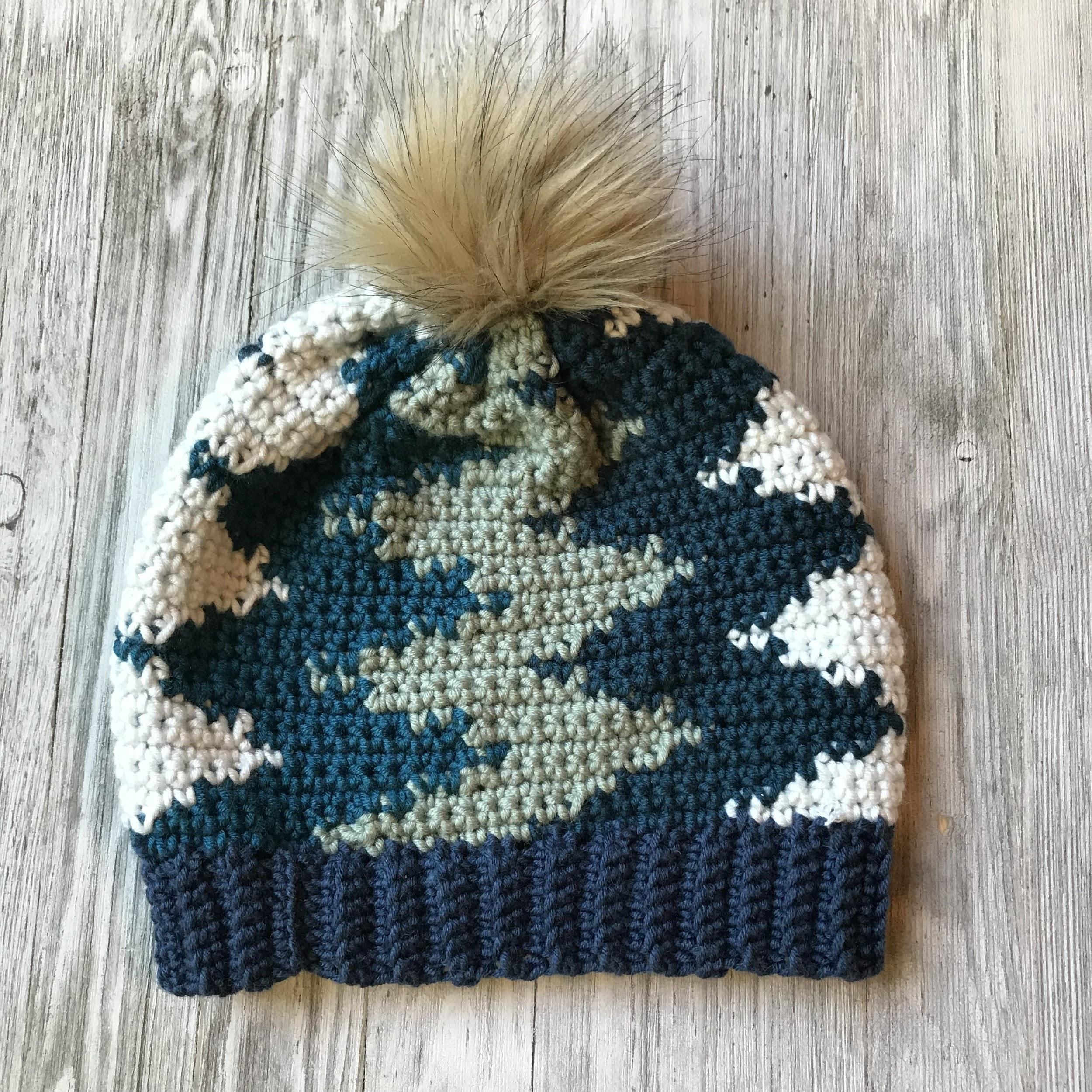 Vertical Chevron Beanie Crochet Pattern Crochet It Creations