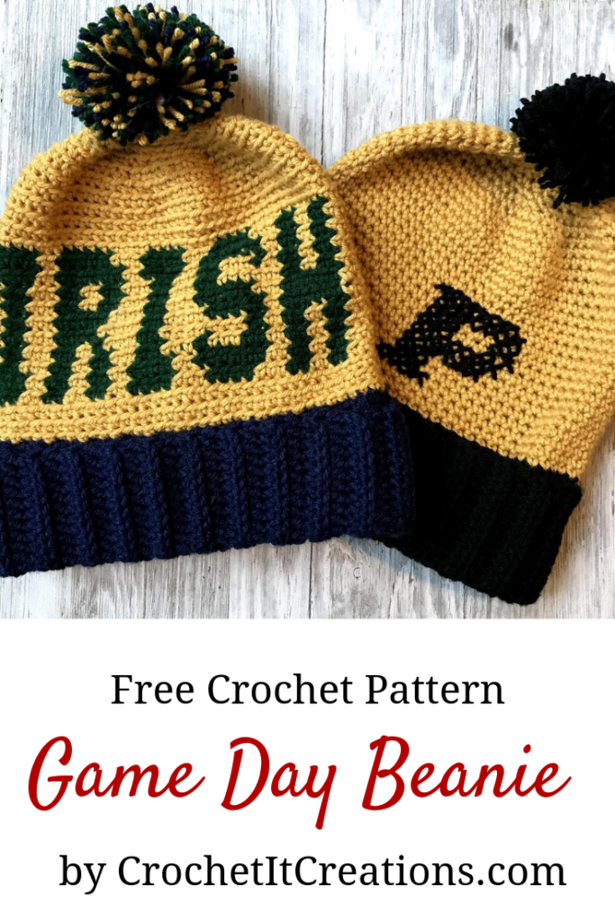 Game Day Beanie Crochet Pattern Crochet It Creations