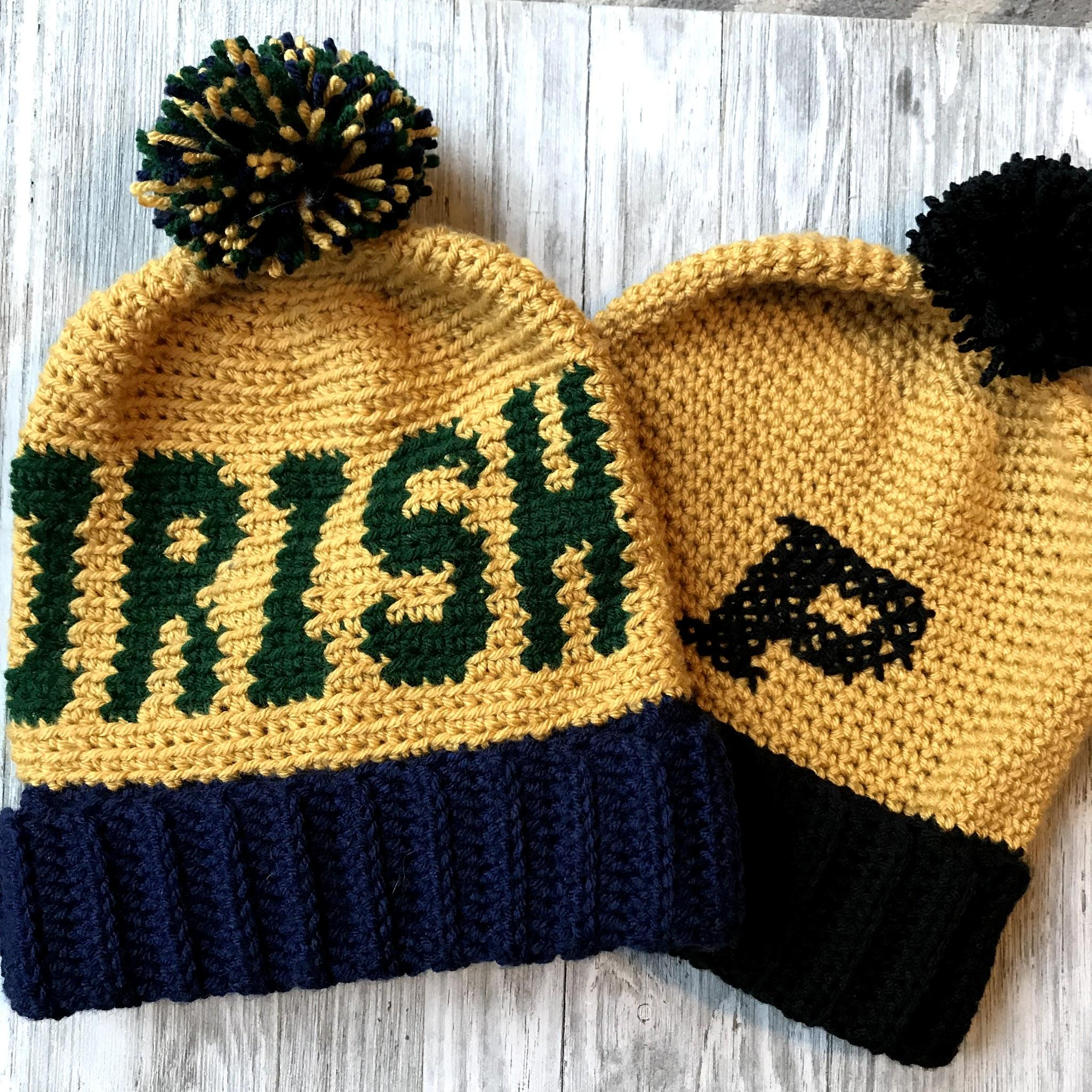 b509a36a2451f5 Game Day Beanie Crochet Pattern by Crochet it Creations