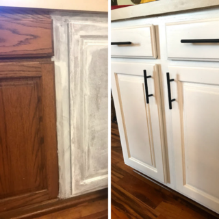 Use Sherwin Williams Paint to update your kitchen cabinets