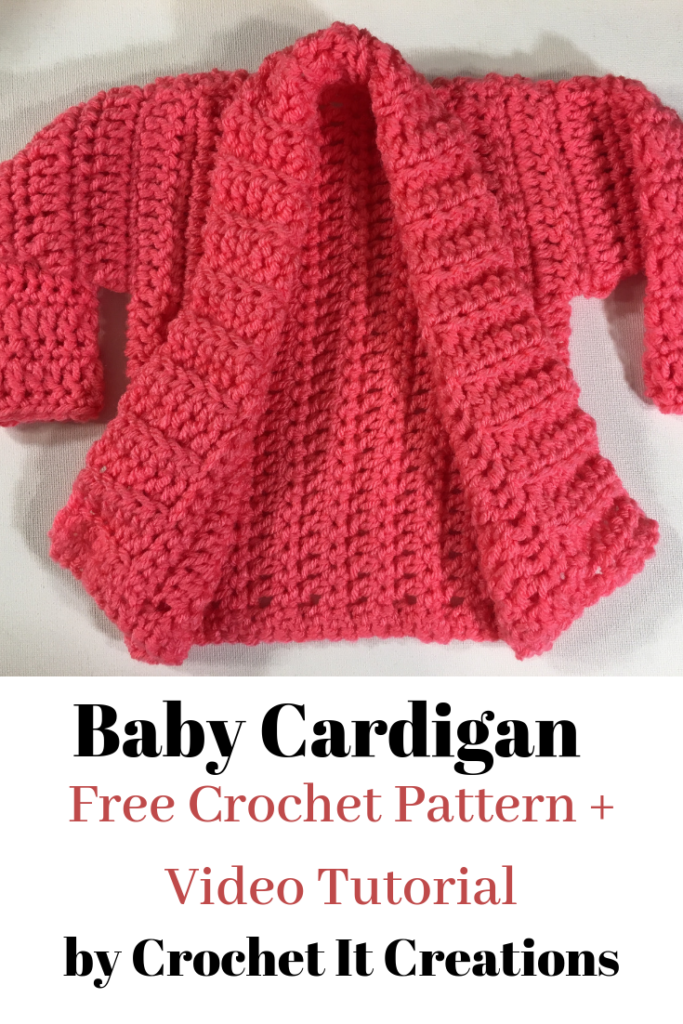 Cameo Cardigan Baby Size Crochet Pattern - Crochet it Creations
