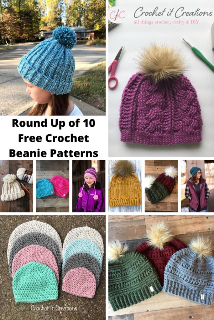 10 Free Crochet Beanie Patterns Crochet It Creations